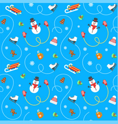 winter holidays flat seamless pattern vector image