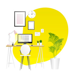 Workplace background trends vector