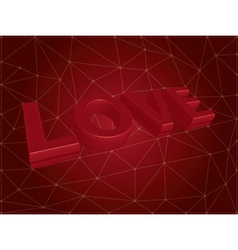 3d love text vector image vector image