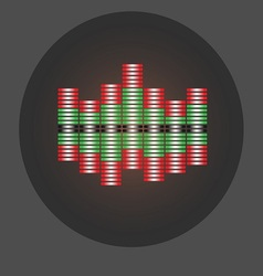 Abstract of a graphic equalizer vector image