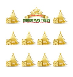 Bargain Christmas trees vector image vector image