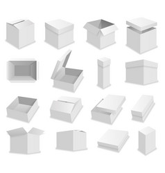 blank packing box on white background vector image