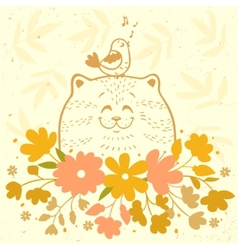 Cat funny vector image vector image