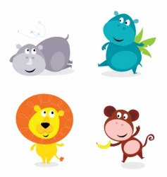 jungle animals vector image vector image