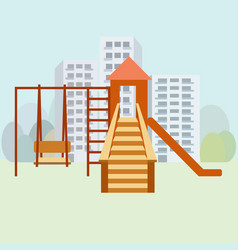 kids playground moden vector image vector image