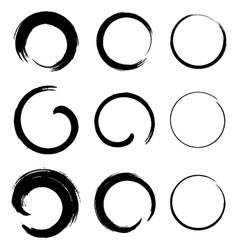 Set of Grunge Circle Stains vector image vector image