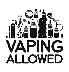 Vaping allowed vector image