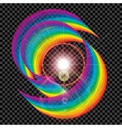 Abstract colorful air strip on a dark plaid vector