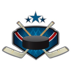 emblem of the hockey team vector image vector image