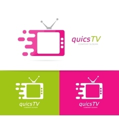 fast television logo combination Speed vector image vector image