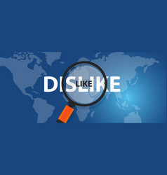 Like dislike concept of thinking analysis world vector