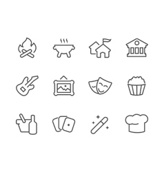 Outline Event icons vector image