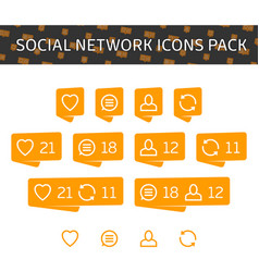 Social network icons pack vector