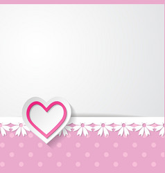 Template of the greeting card vector