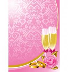 wedding background vector image vector image