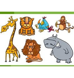 animals cartoon characters set vector image vector image