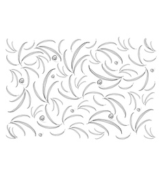 Beautiful White Wallpaper with Leaves Pattern vector image vector image