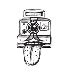Camera and photography smiling concept vector