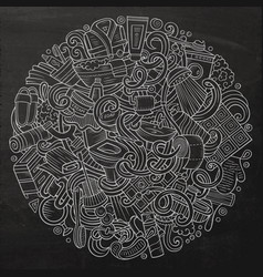 cartoon cute doodles bathroom vector image