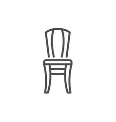 chair line icon vector image