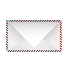 color striped paper envelopes closed vector image