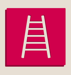 ladder sign grayscale vector image vector image