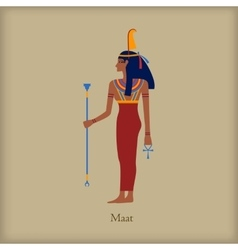 Maat Goddess of justice icon flat style vector image vector image