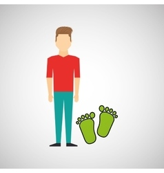 man symbol environment eco footprint icon design vector image vector image