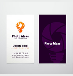 Photo ideas abstract logo and business card vector