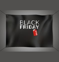 black friday sale design on black fabric vector image vector image