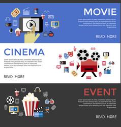 digital black blue cinema vector image vector image