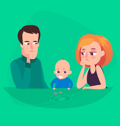 family saving money a man and a woman are vector image