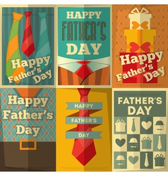 fathers day poster set vector image vector image