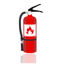 fire extinguisher isolated on white background vector image vector image