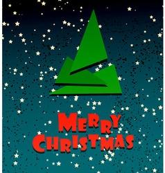 Merry Chrismas festive creative card vector image vector image