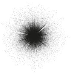 Stipple burst effect EPS 10 vector image
