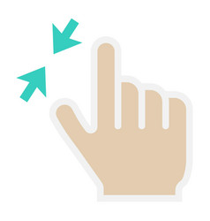 2 finger zoom out flat icon touch and gesture vector