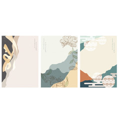 abstract background with asian traditional vector image