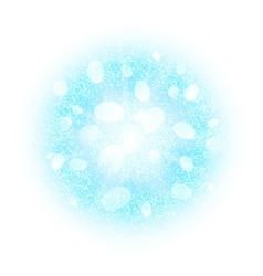 Abstract explosion with blue white dust elements vector