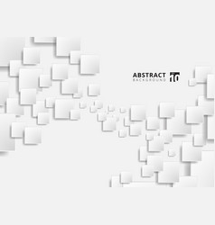 Abstract white geometric squares shape vector
