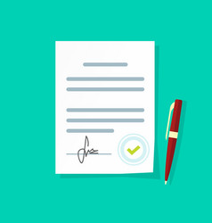 agreement document icon legal paper sheet vector image