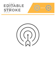Aim editable stroke line icon vector