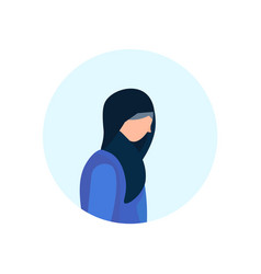 arab old woman profile isolated avatar female vector image