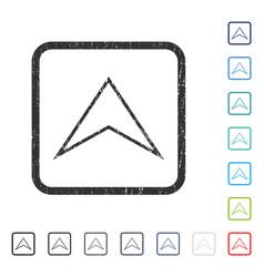 Arrowhead up icon rubber watermark vector