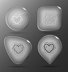 Atomic heart Glass buttons vector image