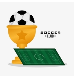 Ball of soccer sport design vector
