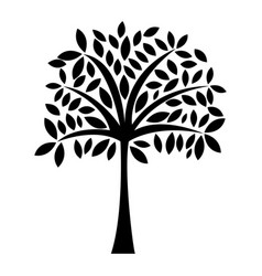black icon tree cartoon vector image