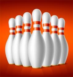 Bowling pins vector