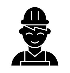 Builder solid icon engineer vector