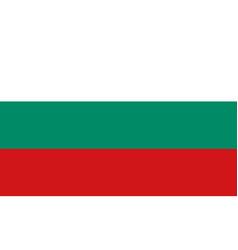 bulgarian flag flat layout vector image